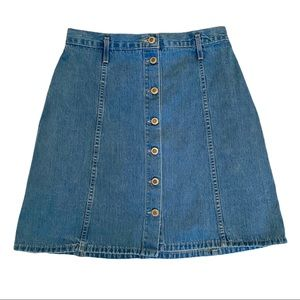 Vintage 90's button up denim skirt